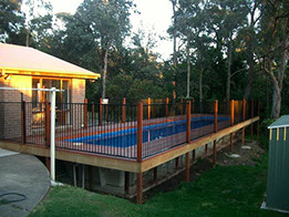 Above ground fibreglass pools for Above ground pool decks brisbane